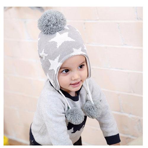(kidwowo)歐美時尚星星保暖童帽(S222)
