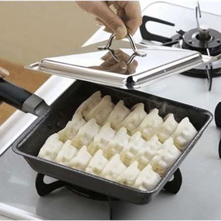 日本製 方型附蓋煎餃鍋
