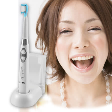 SAMPO聲寶靓白充電式音波震動牙刷