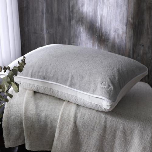 BBL 100%純棉舒適枕巾(霧晨灰)