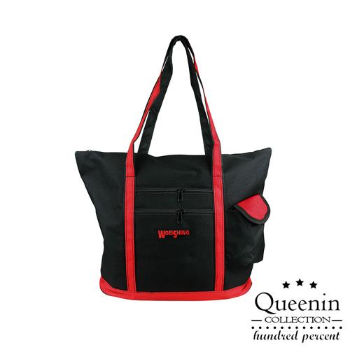 DF Queenin流行 - 外出便攜大容量休閒肩背包旅行袋-共2色