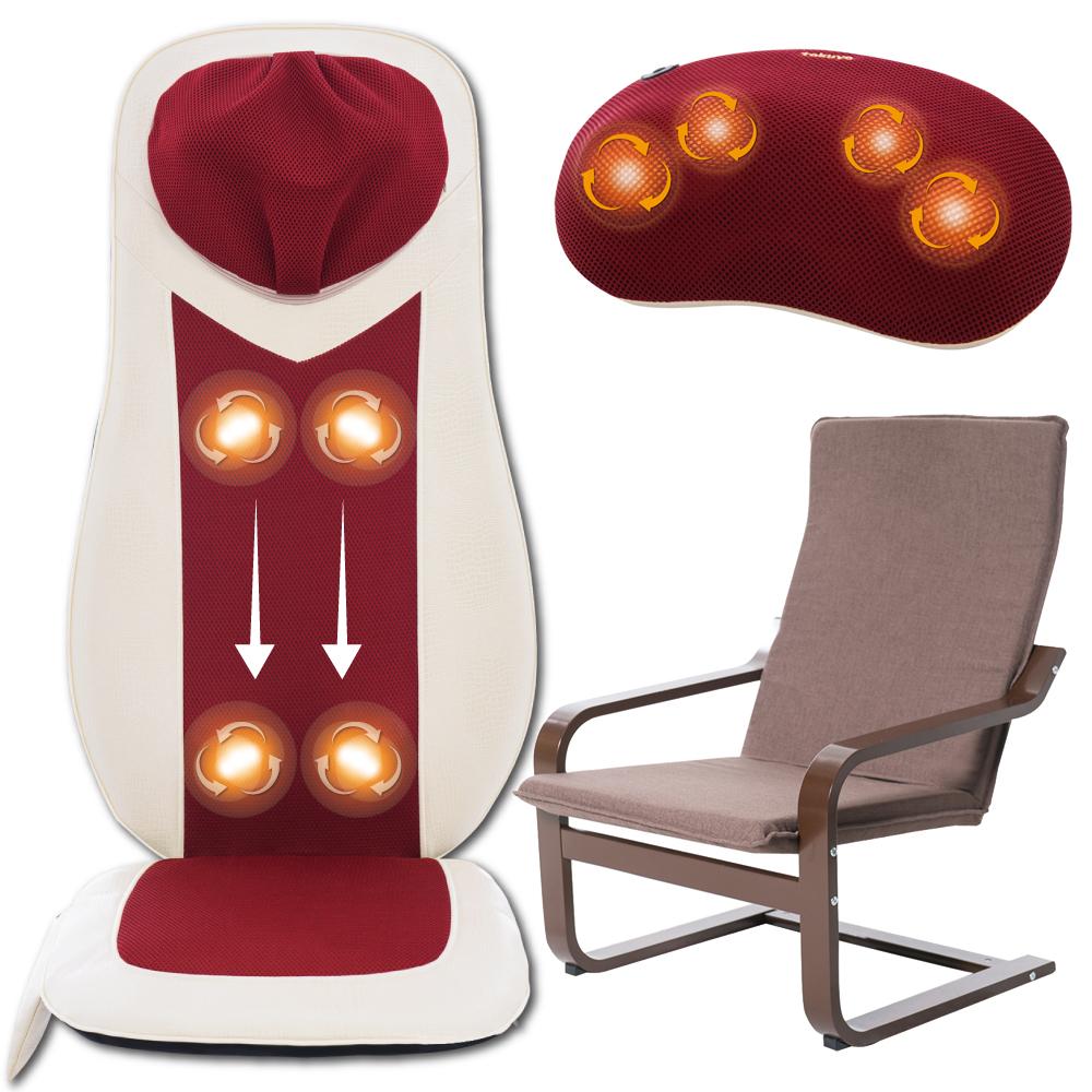 【瘋殺】tokuyo 3D巧手勁按摩墊+按摩枕+扶手椅 (TH-522+TH-509+TG-002)