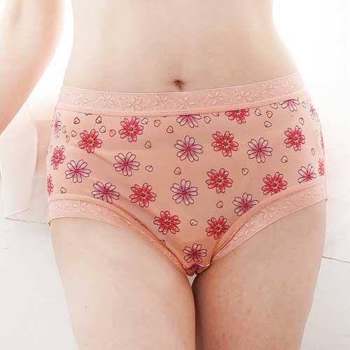 【Chlansilk闕蘭絹】滿滿花朵100%蠶絲女內褲-88113(橘)