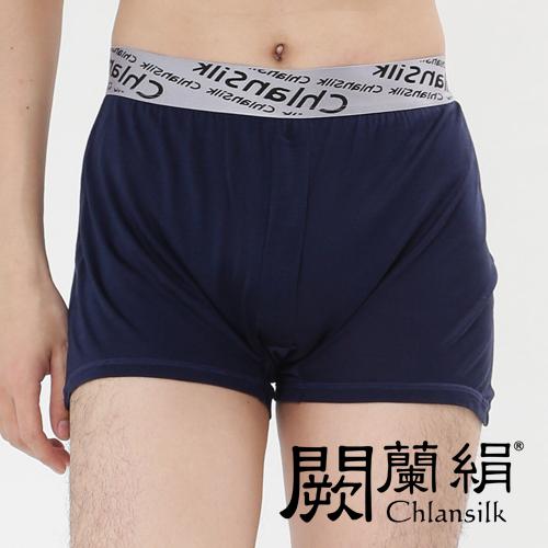 【Chlansilk闕蘭絹】100%蠶絲完美型男舒適透氣四角平口褲(M)-88991(深藍)