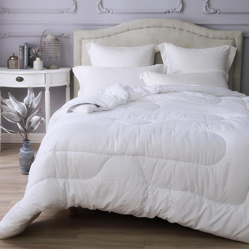 【MONTAGUT-送抗菌2枕】纖絨棉-抗菌防蹣蓄熱羊毛被(一被兩枕組)