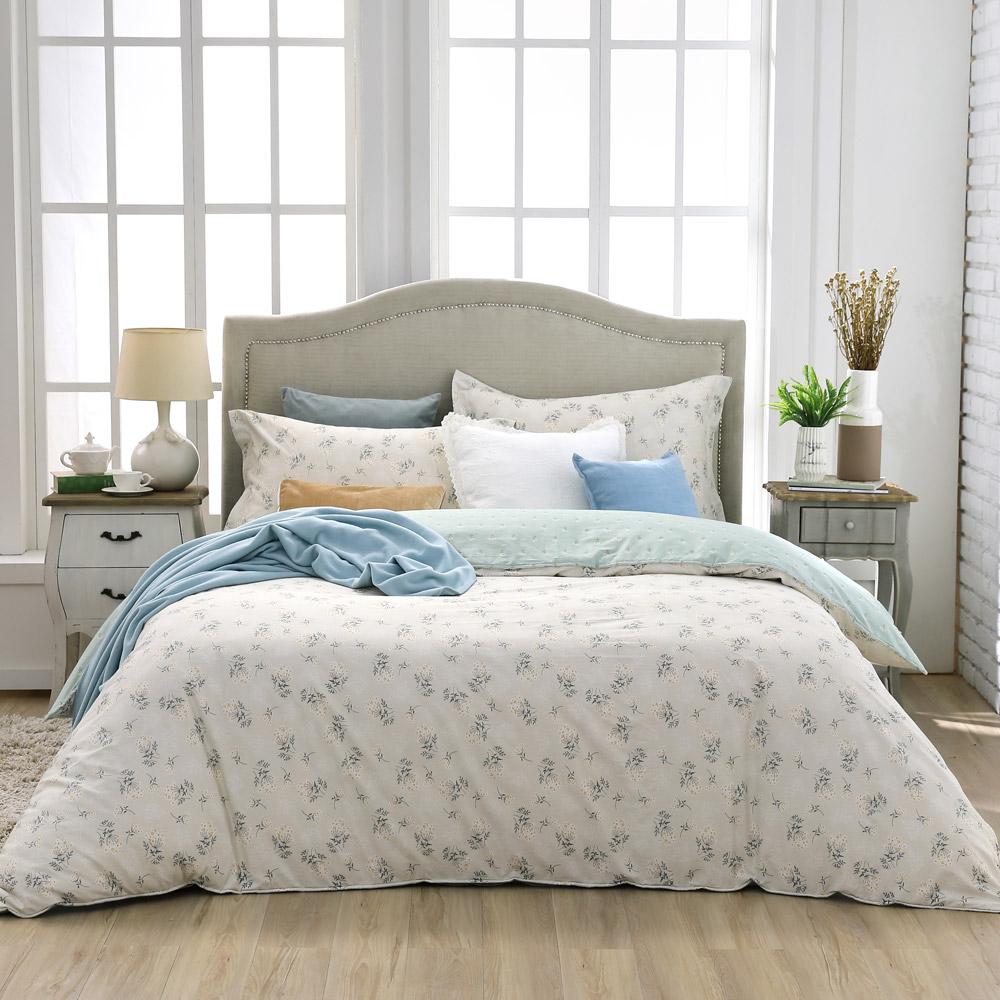 BBL 清新雛菊 100%精梳棉印花加大兩用被床包組
