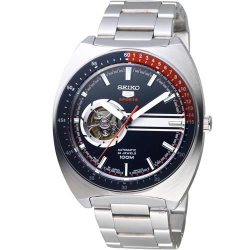 SEIKO 精工5號時空機械腕錶 4R38-01K0D SSA329J1
