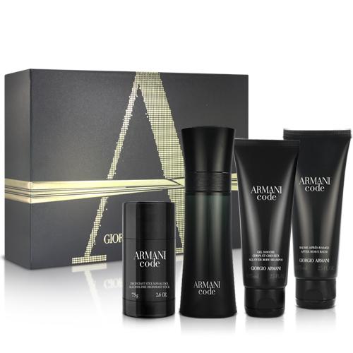 (即期品)GIORGIO ARMANI CODE 黑色密碼男性淡香水奢華禮盒-效期20200601
