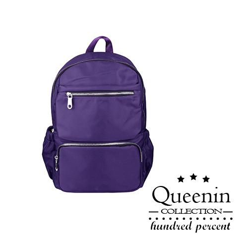 DF Queenin日韓 -嚴選優質感個性雙肩後背包-共2色