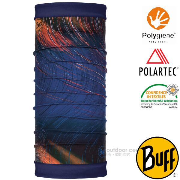 【西班牙 BUFF】POLARTEC 雙面用超彈性保暖魔術頭巾PLUS(吸溼排汗+抗菌除臭)可當圍巾_口罩_圍脖帽子_118047 風之力場