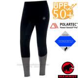 【瑞士 MAMMUT 長毛象】男新款 Polartec Power Stretch Pro 控溫透氣保暖快乾耐磨貼身長褲(衛生褲).緊身褲.登山滑雪旅遊 00210-00205 黑