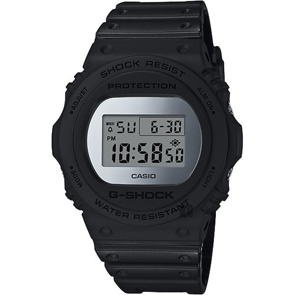CASIO 卡西歐 G-SHOCK 35周年 MIRROR DW-5700 經典王者手錶-鏡面銀 DW-5700BBMA-1 / DW-5700BBMA-1DR