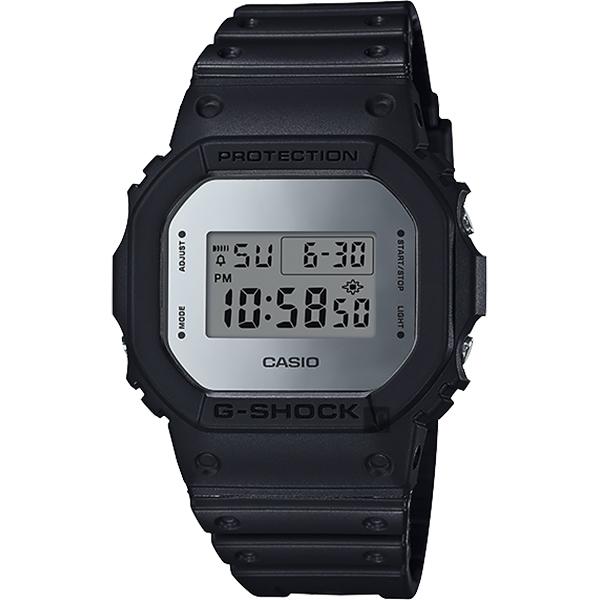 CASIO 卡西歐 G-SHOCK 35周年 MIRROR DW-5600 經典王者手錶-鏡面銀 DW-5600BBMA-1 / DW-5600BBMA-1DR