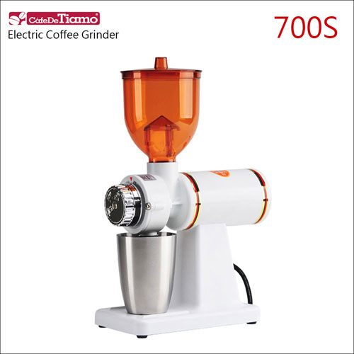 Tiamo 700S義式電動磨豆機-110V-消光白 (HG0420MWH)