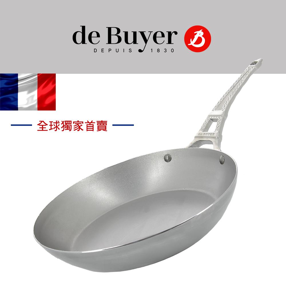 法國【de Buyer】畢耶鍋具『巴黎輕量蜂蠟全球獨家款』鐵塔柄平底鍋28cm