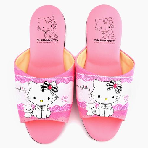 童鞋城堡-Charmmy Kitty 成人款室內拖鞋CK2706-粉