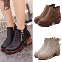 《JOYCE》36~40 韓時尚俐落粗跟短靴(共5款可選)