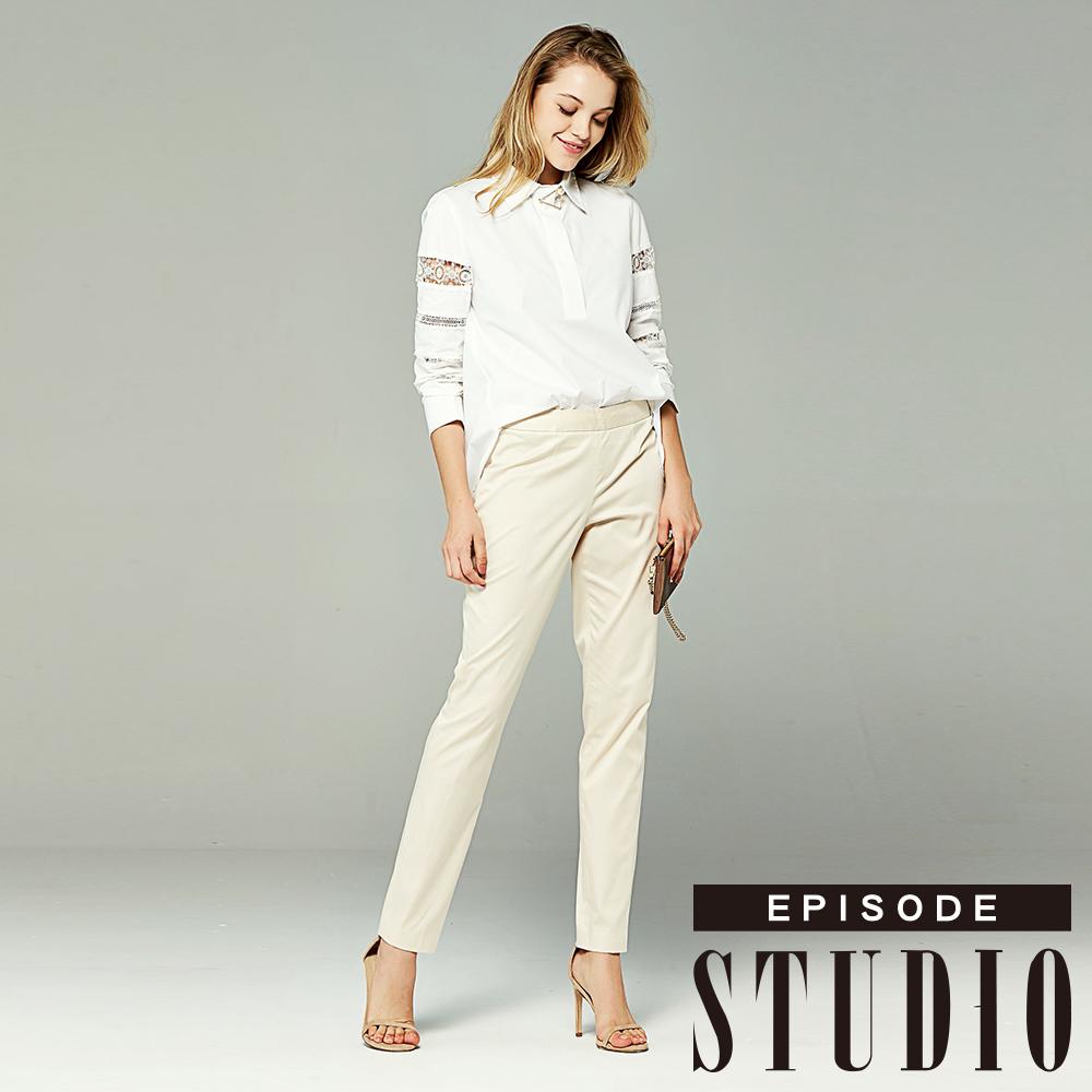 EPISODE Studio - 素面百搭長褲(米色)