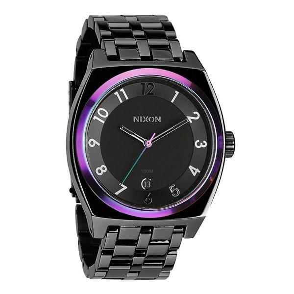 NIXON MONOPOLY輕巧躍動都會日期腕錶-藍紫框x黑-A3251698