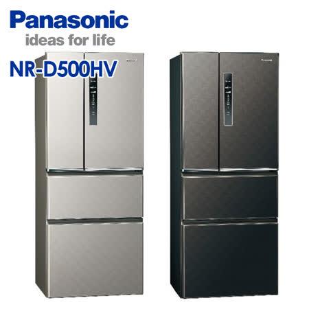 國際牌 500公升 無邊框鋼板變頻四門冰箱