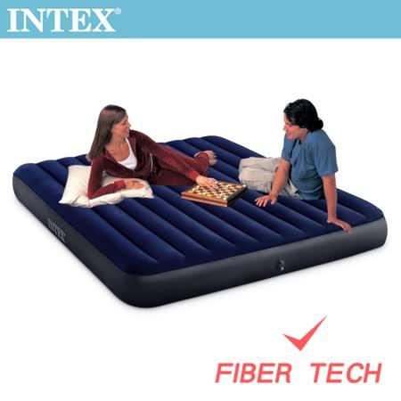 【INTEX】經典雙人加大(新款FIBER TECH)充氣床墊-寬152cm (64759)
