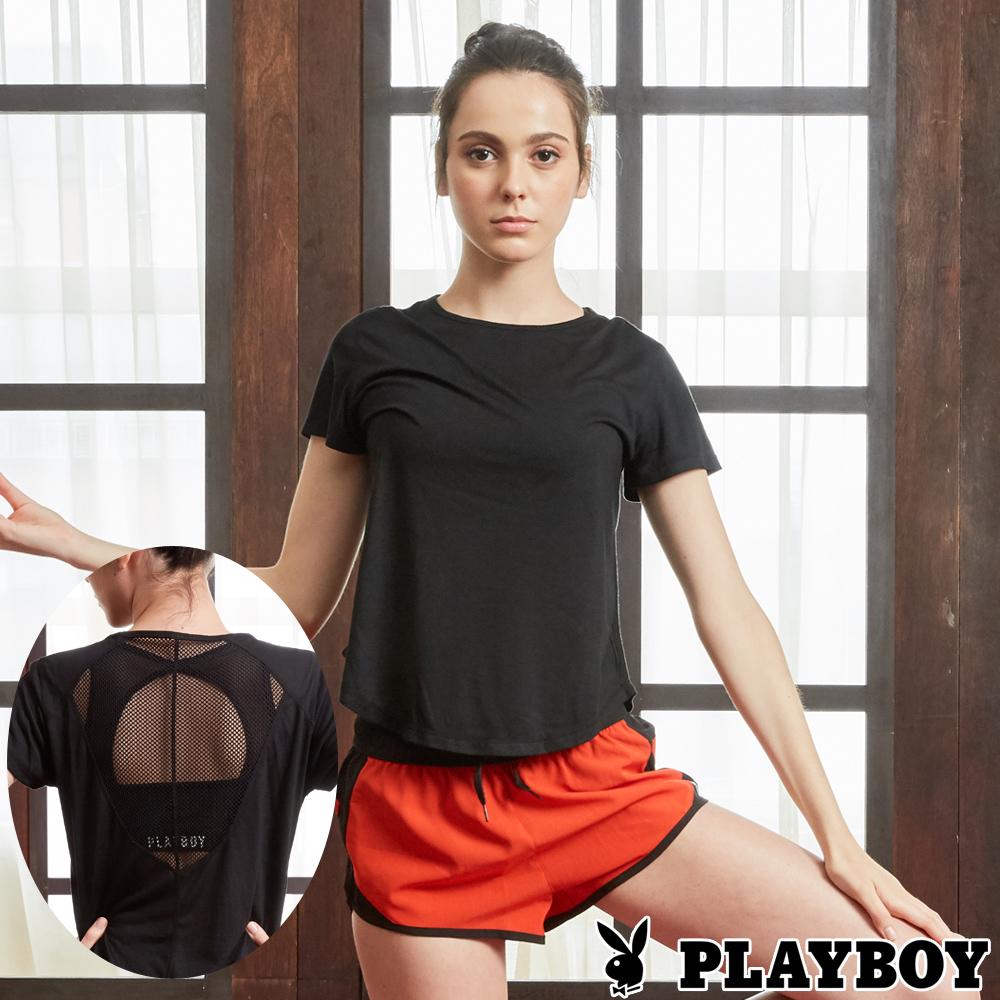 PLAYBOY 透氣網布修身運動上衣(PL6318001)