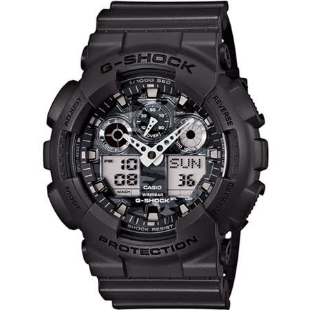 CASIO G-SHOCK 人氣迷彩指針雙顯錶款