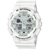 CASIO G-SHOCK 白色主題運動腕錶 GA-100MW-7A