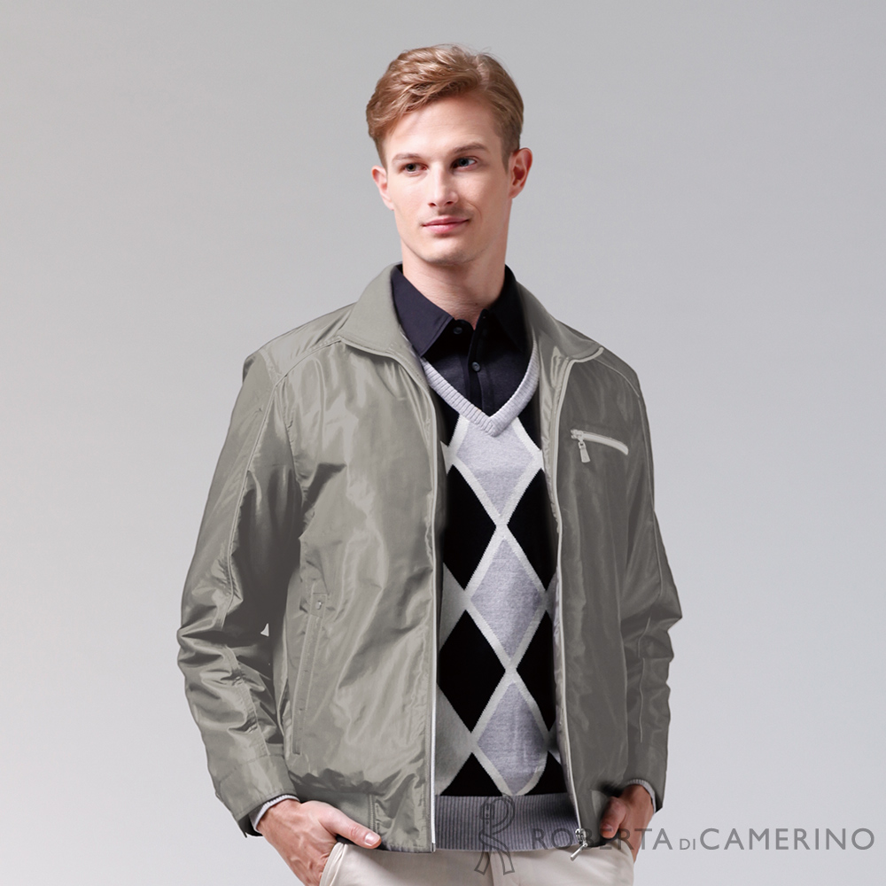 ROBERTA諾貝達 進口素材 禦寒必備 內刷毛夾克外套 淺褐
