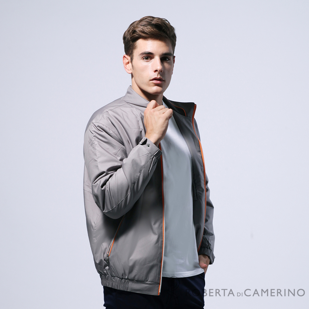 ROBERTA諾貝達 台灣製 都會機能 防潑水 厚鋪棉夾克外套 褐色