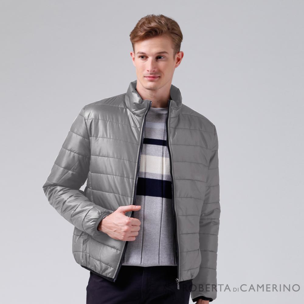 ROBERTA諾貝達 休閒極品 禦寒必備 厚舖棉夾克外套 灰色