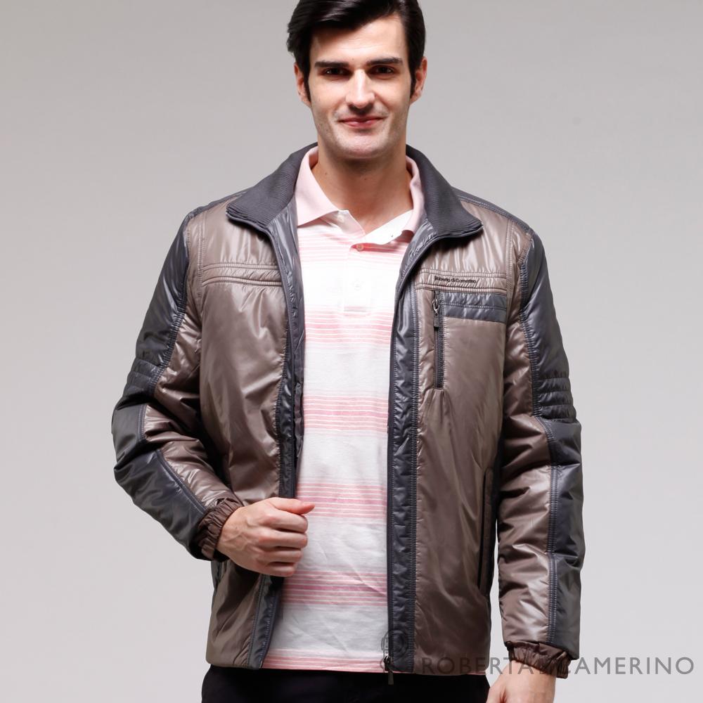 ROBERTA諾貝達 禦寒必備 內裡舖棉夾克外套  褐色