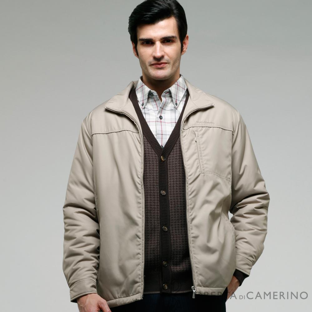ROBERTA諾貝達 台灣製 防潑水 內裡舖棉 機能夾克外套  亞麻色
