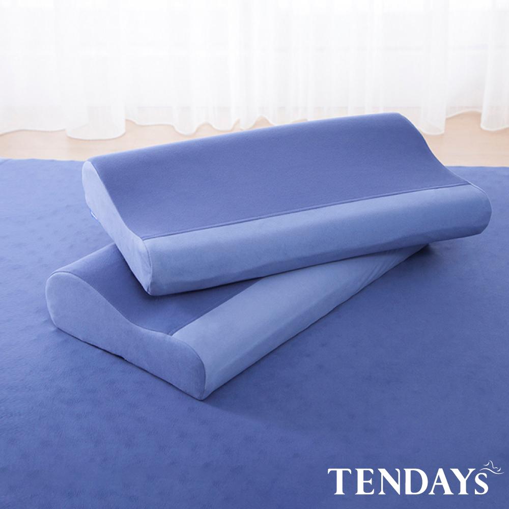 【TENDAYS】DISCOVERY柔眠枕(冰湖藍)記憶枕-任選兩入