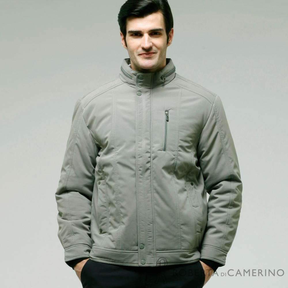 ROBERTA諾貝達  禦寒必備 內裡加厚舖棉 領口拉鍊 夾克外套  灰色