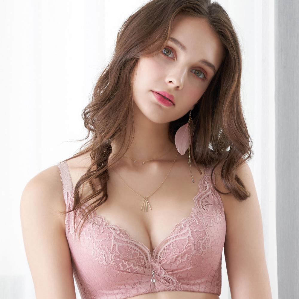 【EASY SHOP】奢意夢境 大罩杯B-E罩內衣(芋粉色)