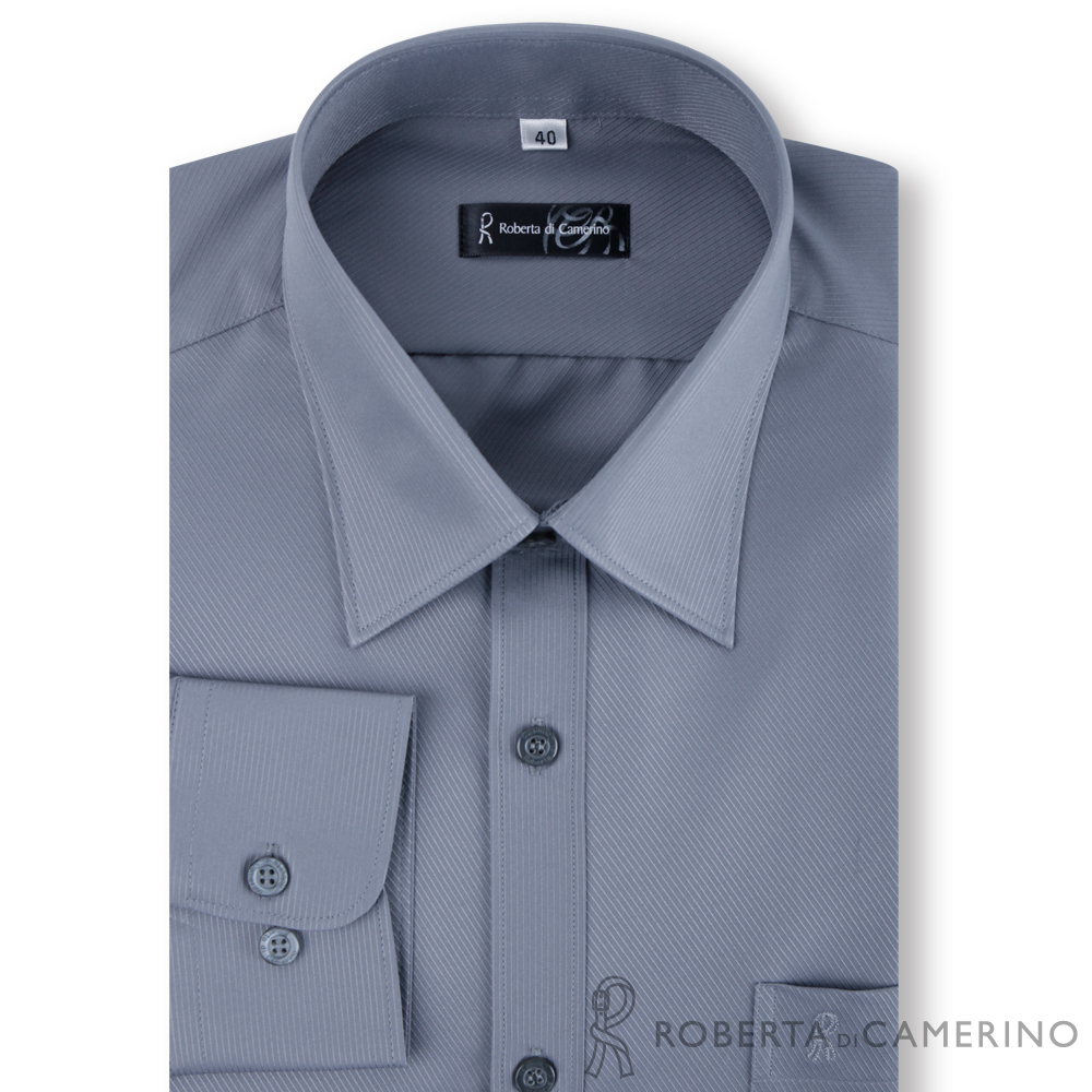 ROBERTA諾貝達 台灣製 嚴選穿搭 吸溼速乾長袖襯衫 灰色