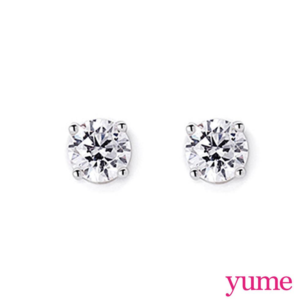 【YUME】7mm單鑽耳環