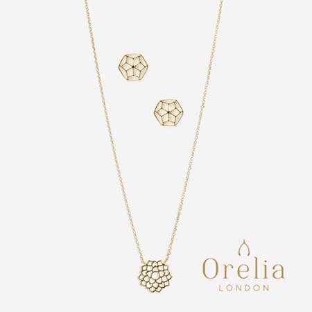 英國Orelia LONDON  皇冠脈輪項鍊耳環組