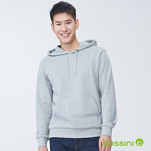 bossini男裝-連帽厚棉T恤01淺灰