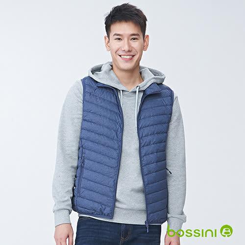 bossini男裝-輕羽絨背心02藍紫