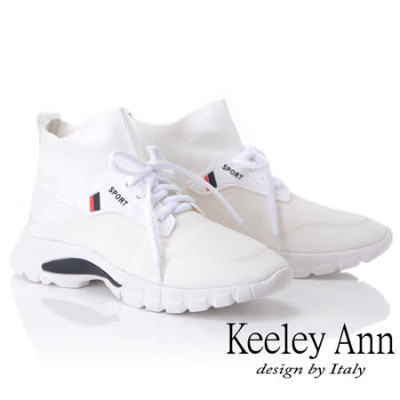 Keeley Ann 中筒襪套式綁帶休閒鞋