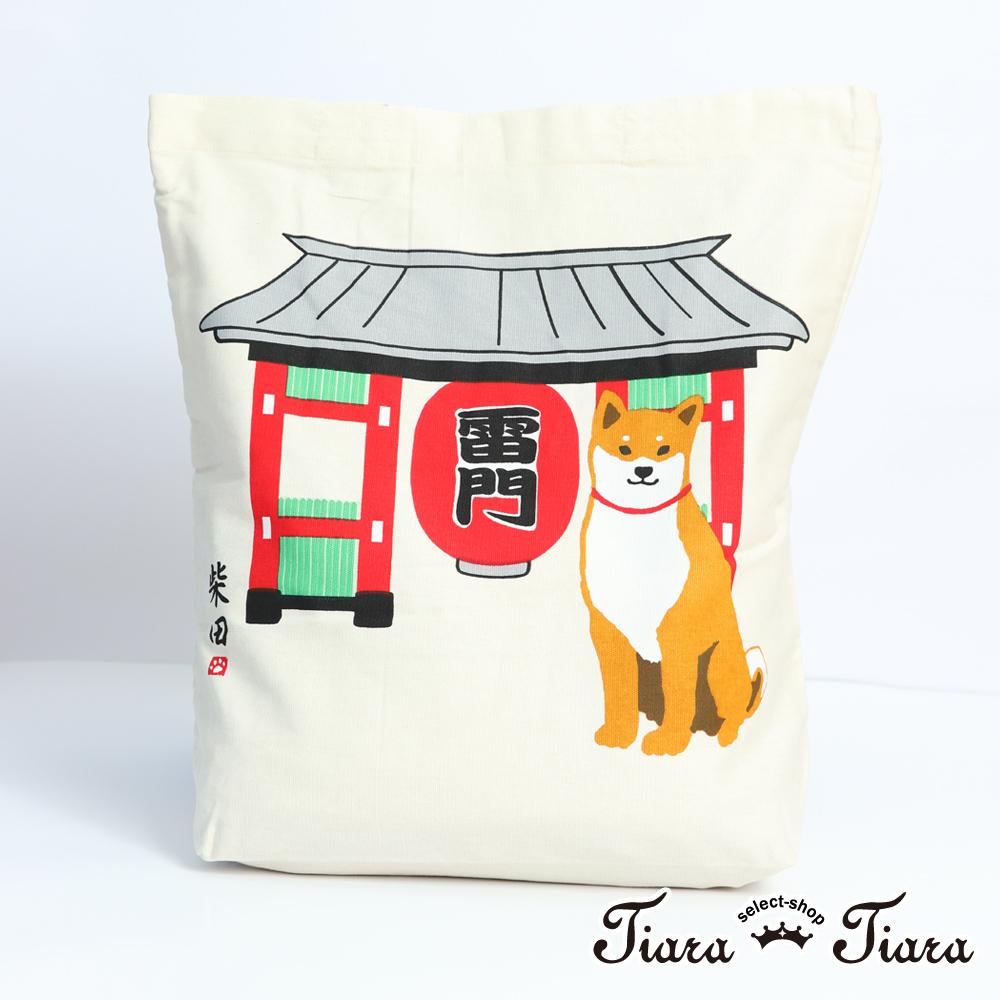【Tiara Tiara】柴田日本雷門行-帆布袋(白)