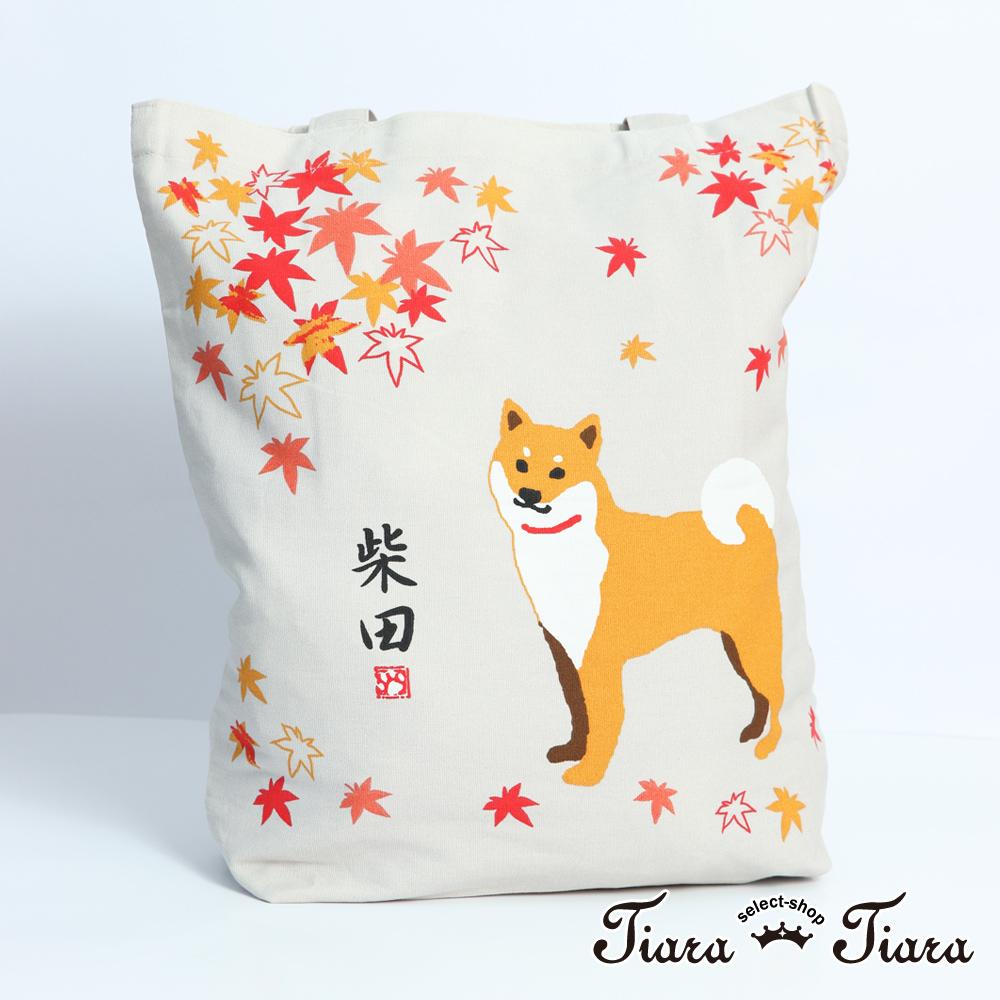 【Tiara Tiara】柴田秋日賞楓趣-帆布袋(灰)