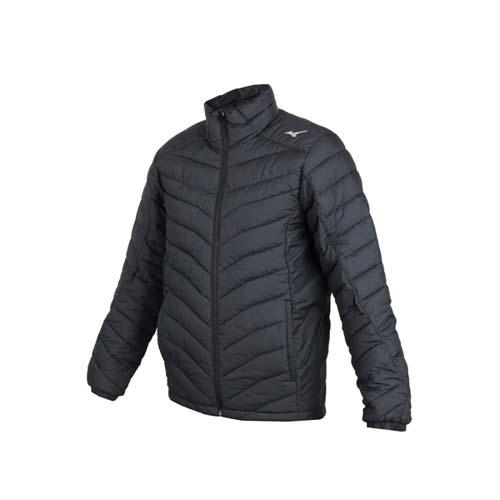 (男) MIZUNO 防潑水保暖外套-立領外套 鋪棉外套 保溫 美津濃 黑