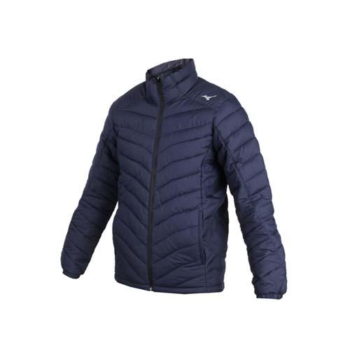 (男) MIZUNO 防潑水保暖外套-立領外套 鋪棉外套 保溫 美津濃 丈青