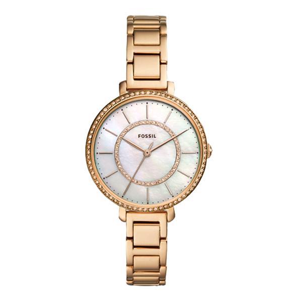 FOSSIL  晶彩錶現珍珠貝殼面腕錶-玫瑰金-ES4452