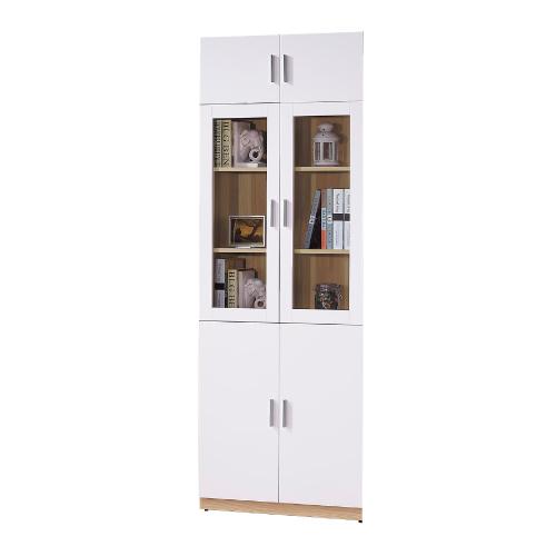 AS-金吉斯2.7尺六門高書櫃-80x32x213.3cm