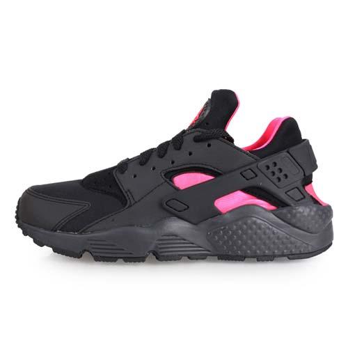 (女) NIKE AIR HUARACHE 休閒鞋-慢跑 黑螢光粉