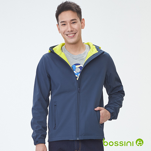 bossini男裝-機能複合外套01海軍藍